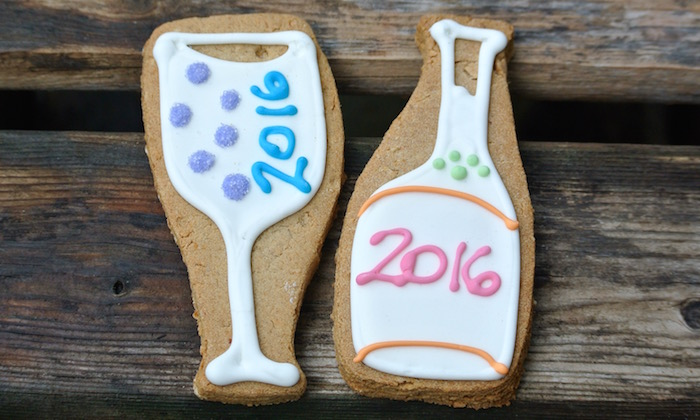 Champagne/Wine Bottle & Glass Cookie Duo