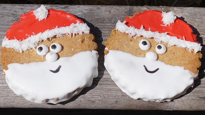 Jolly Santa Face Cookies Ma Snax Dog Treats Jolly Santa Face Cookie